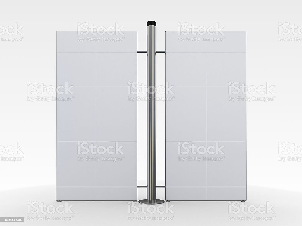 3d blank exhibition stand royalty-free stock photo