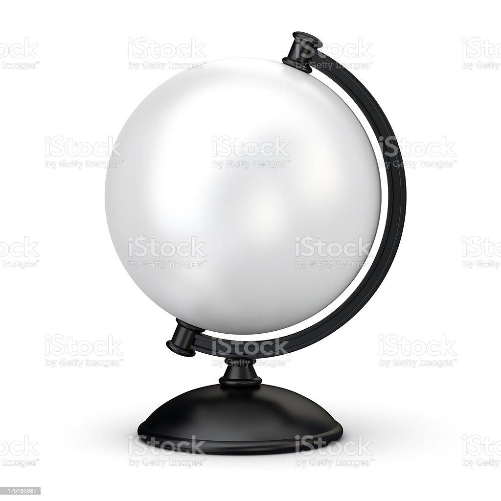 3d blank globe, white board stock photo