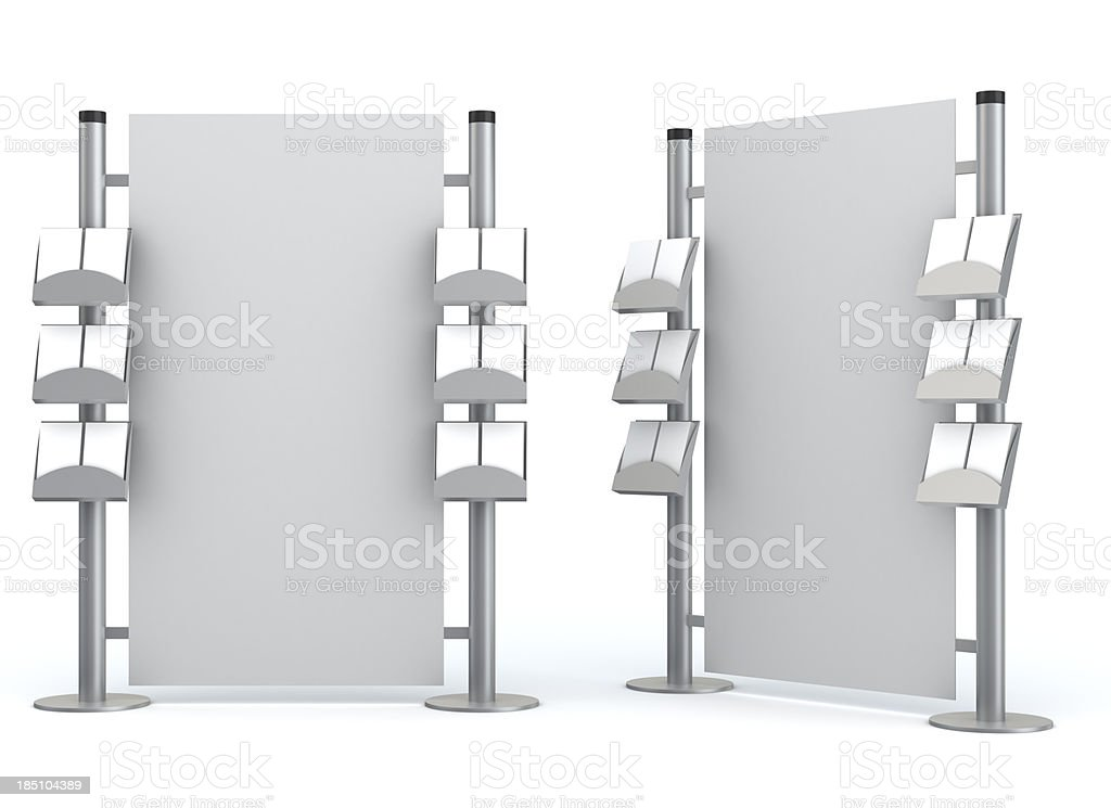 3d blank  information center stock photo