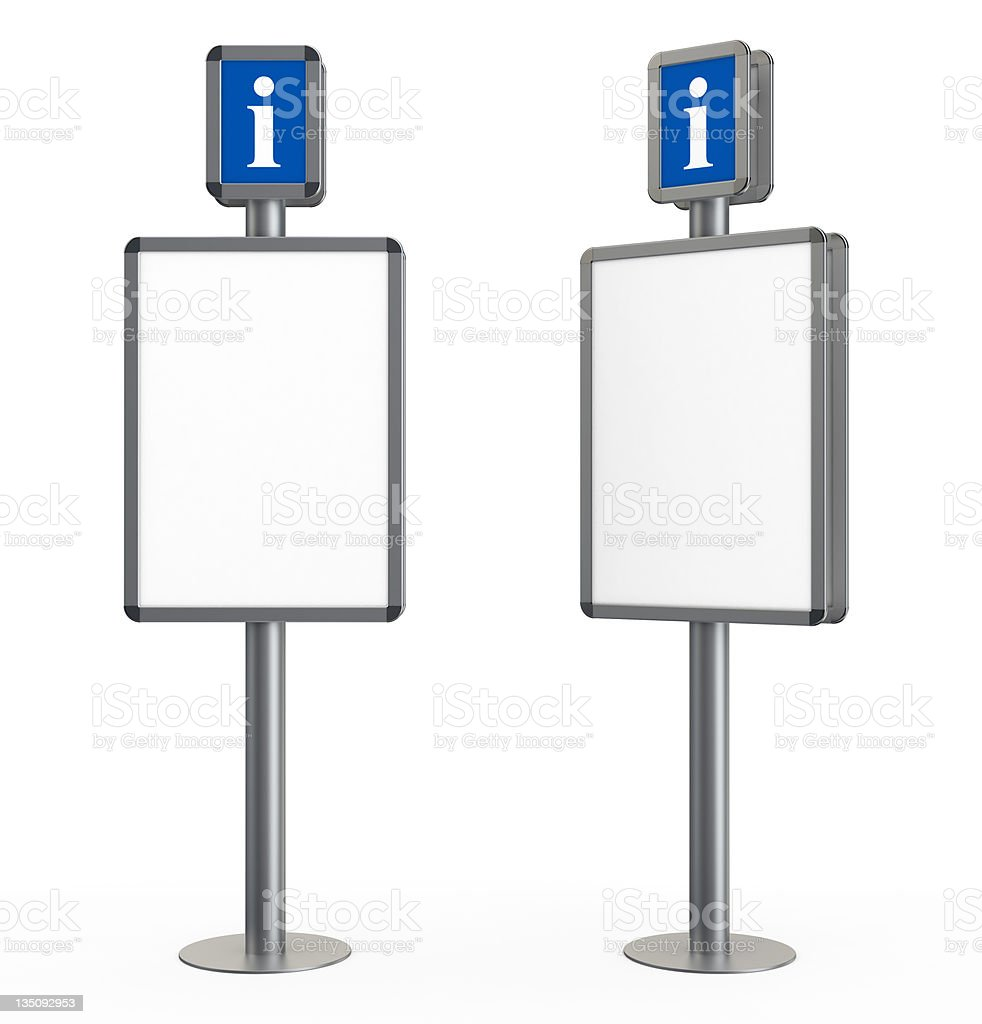 3d blank information stand stock photo