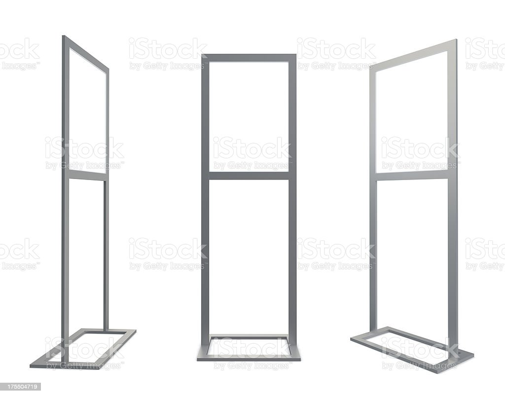 3d blank information stand royalty-free stock photo