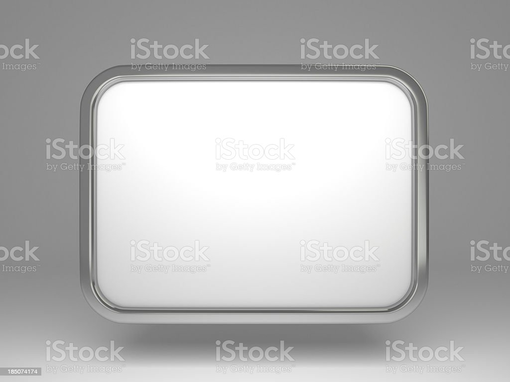 3d blank poster frame stock photo