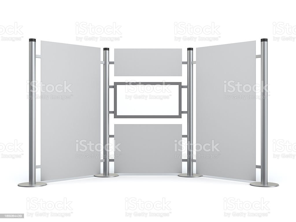 3d blank  stand with video lcd display royalty-free stock photo