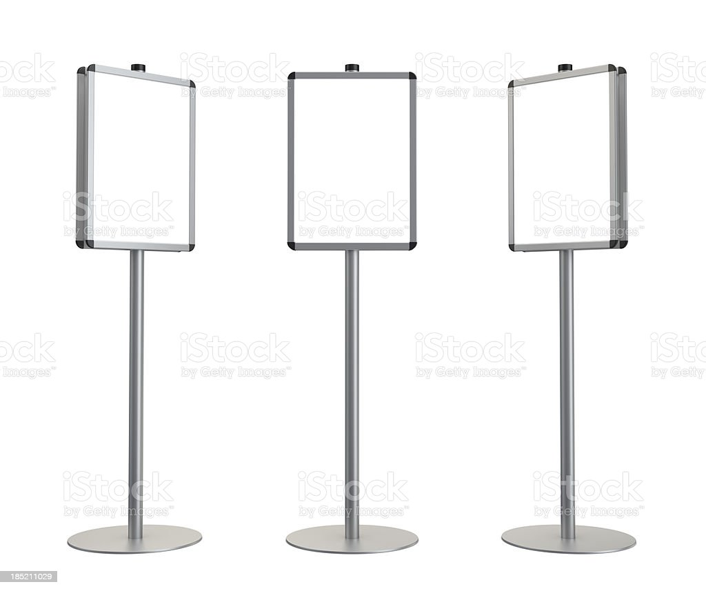 3d blank standing advertising digital poster stock photo