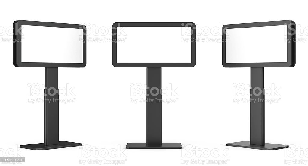 3d blank video display stand stock photo