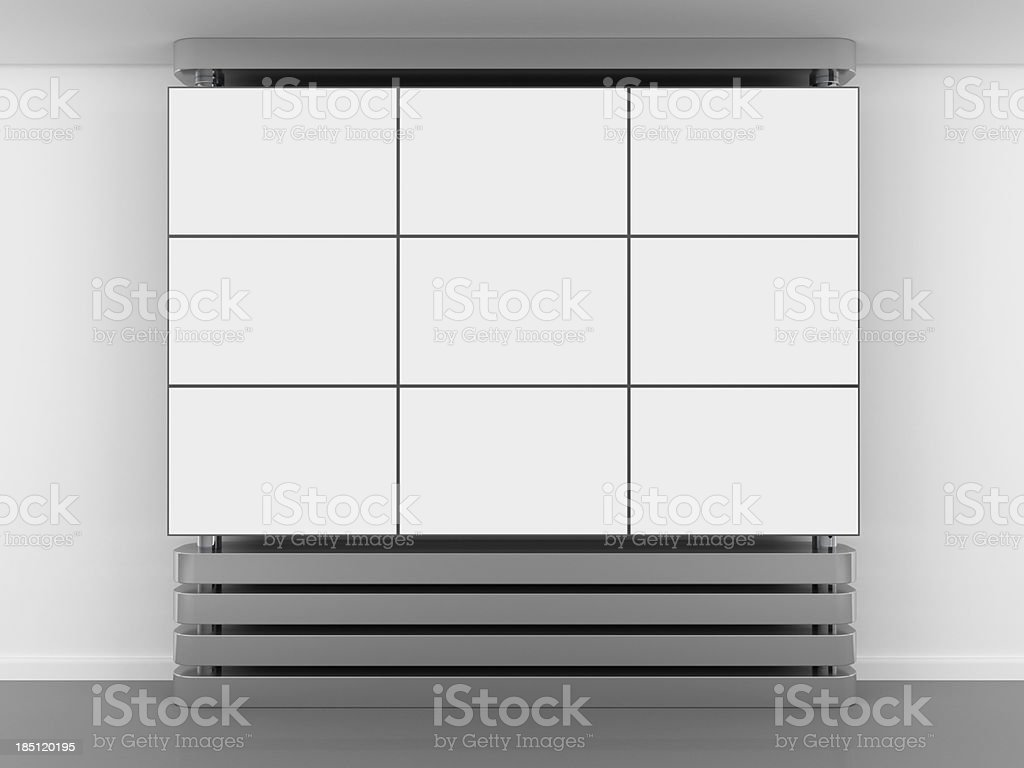3d blank video wall panel royalty-free stock photo