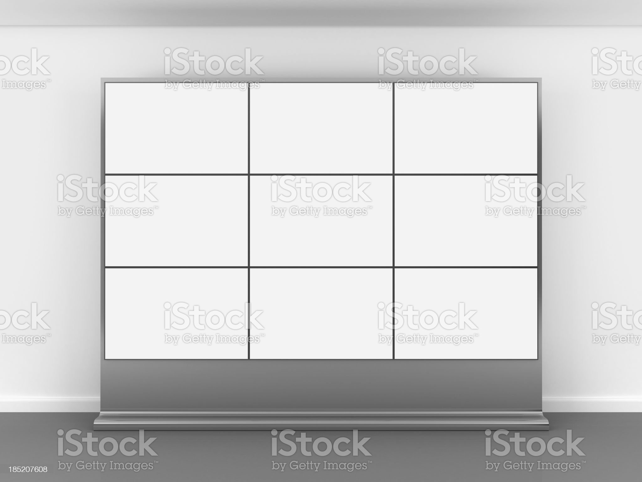 3d blank video wall royalty-free stock photo