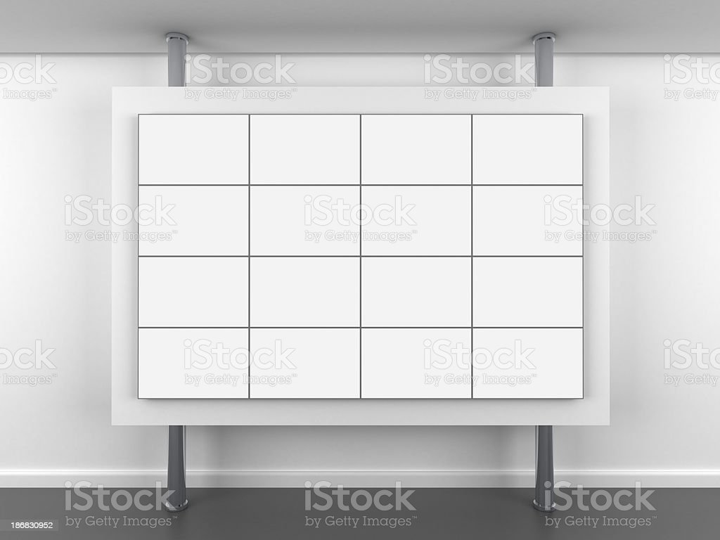 3d blank video wall stand stock photo