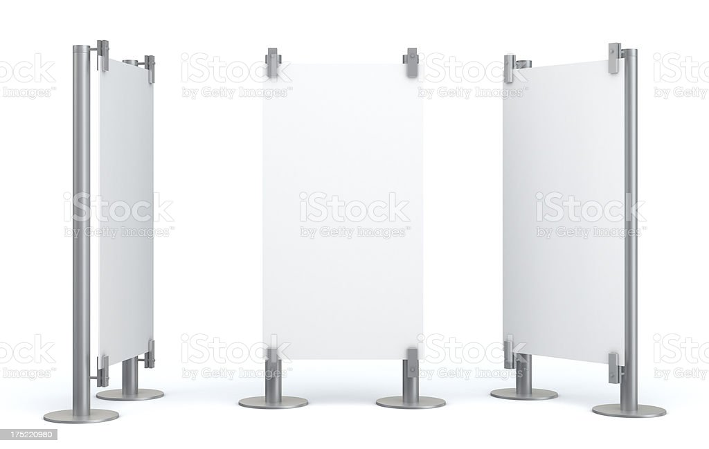 3d blank visual stand stock photo