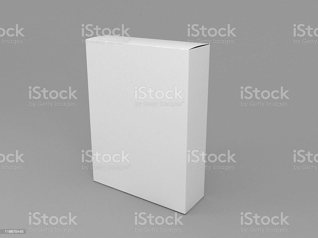 3d blank white software box stock photo