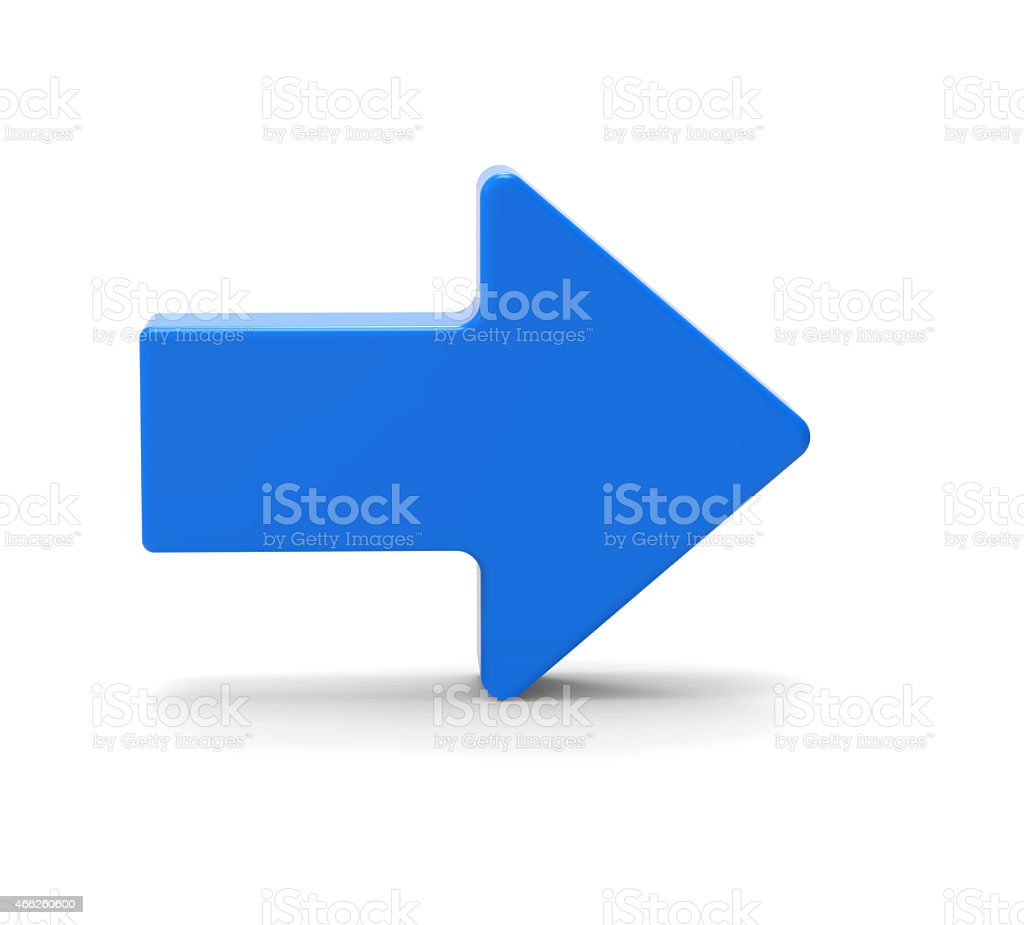 3d Blue arrow symbol stock photo