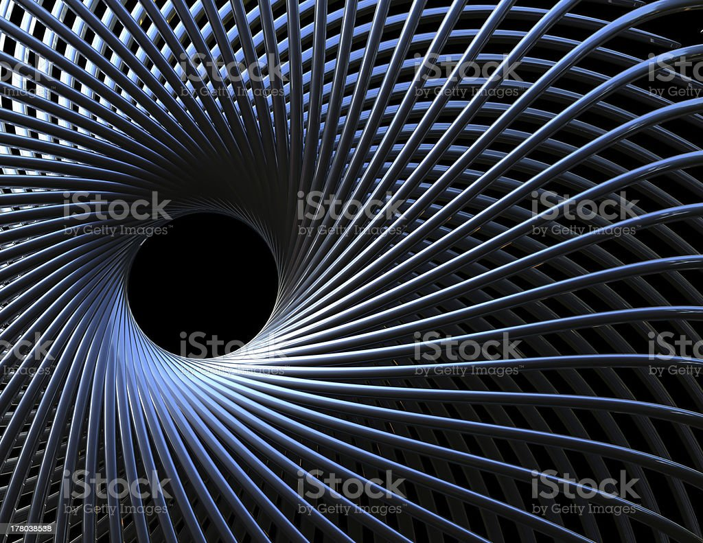 3d blue spiral abstract corporate technology background stock photo