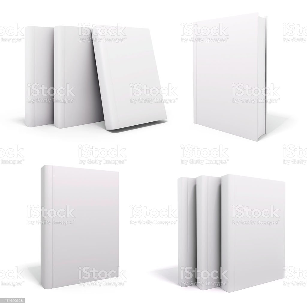 3d book with blank covers stock photo