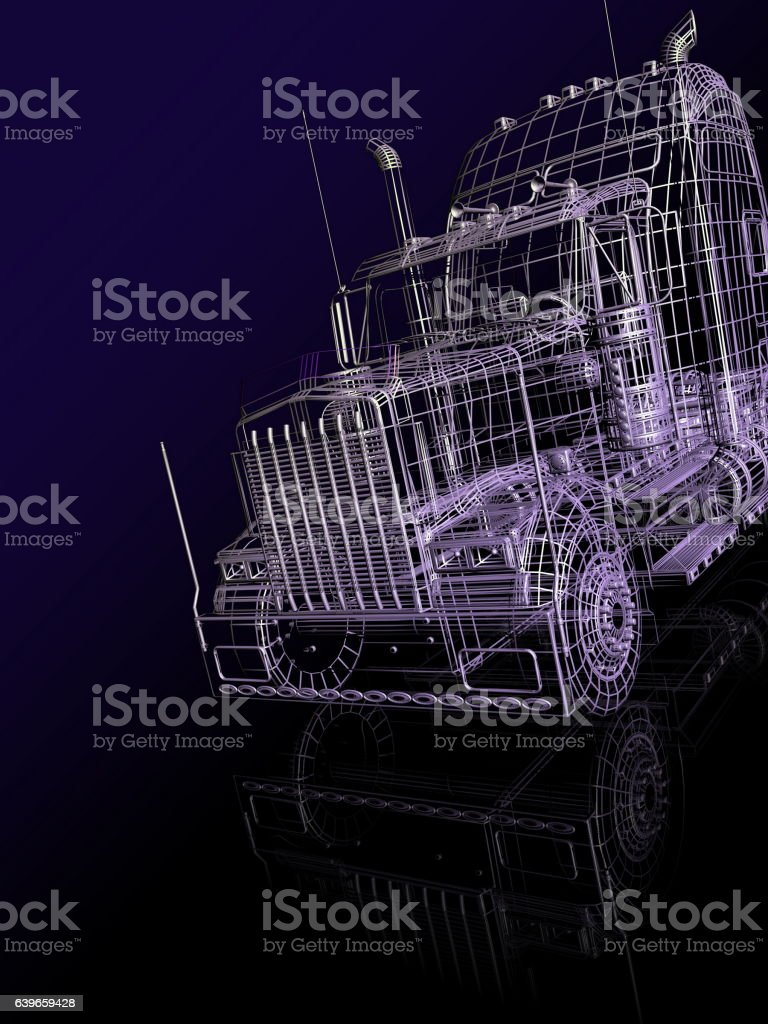 3d  booth of truck stock photo