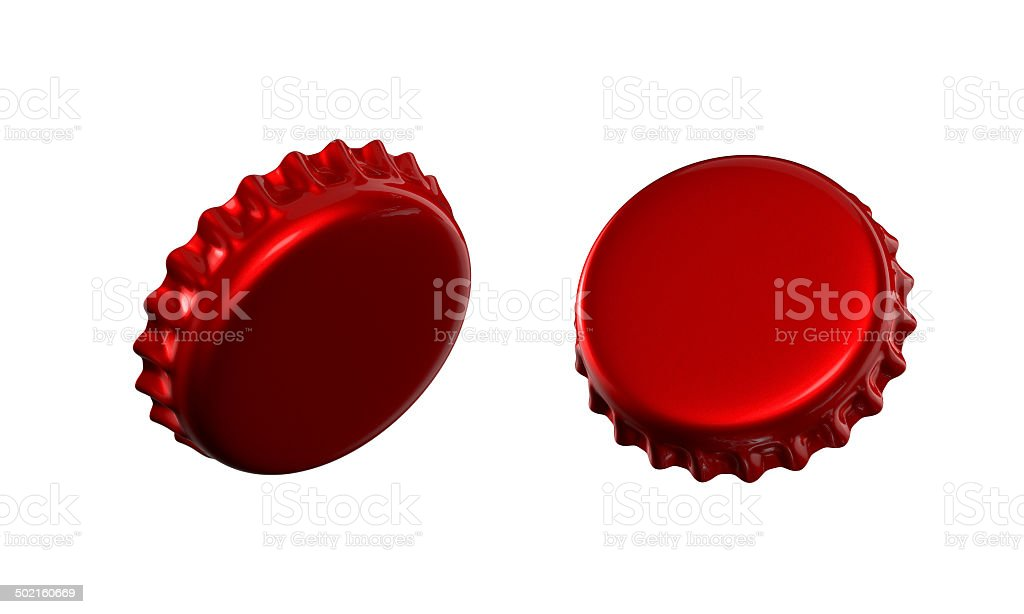 3d bottle cap flip vector art illustration