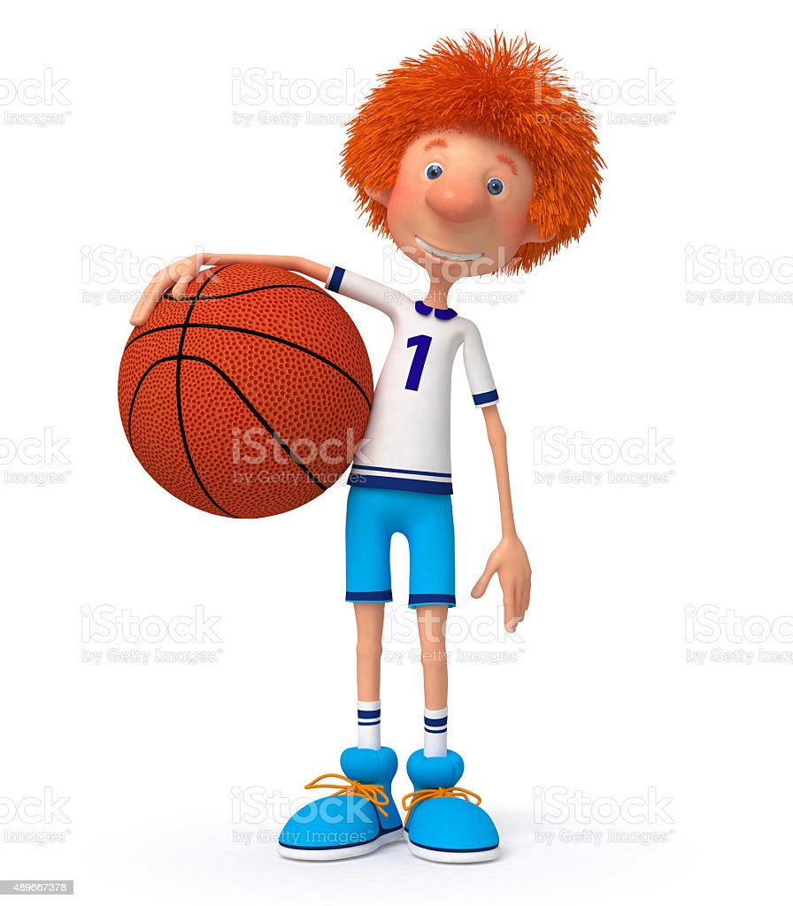 3d boy basketball player stock photo