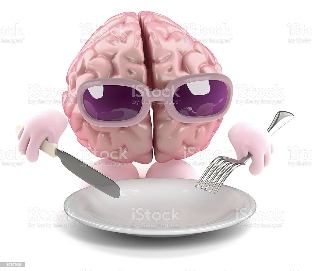 3d Brain food stock photo