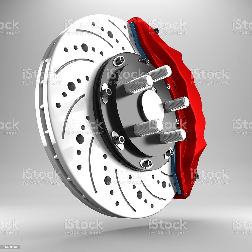 3d brake. stock photo