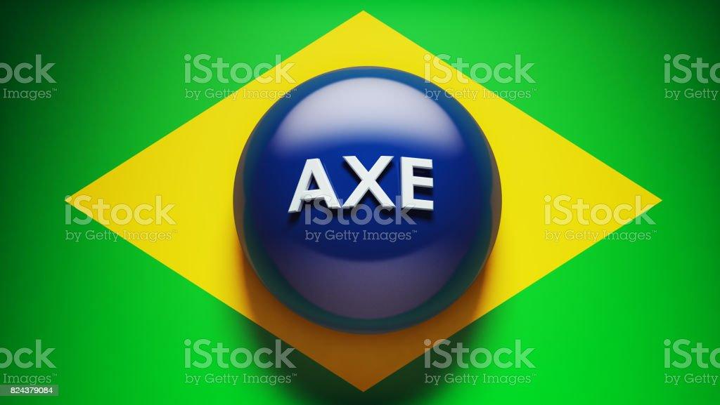 3d Brazil Flag stock photo