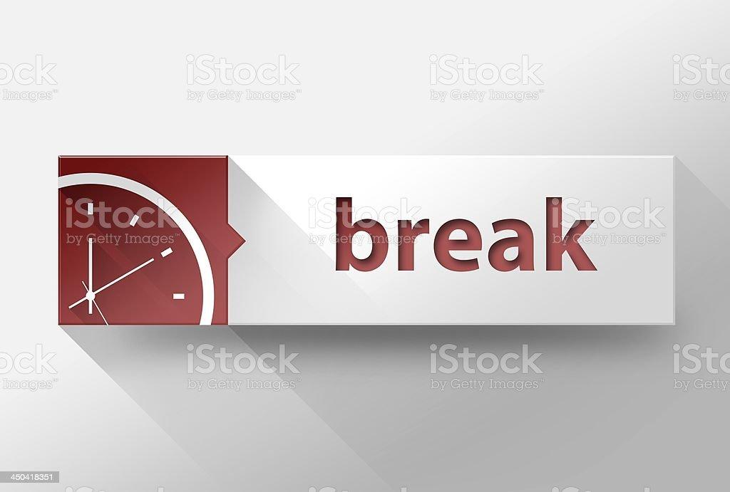 3d Break time in work flat design, illustration stock photo
