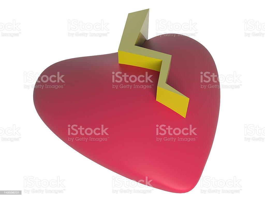 3d broken heart stock photo