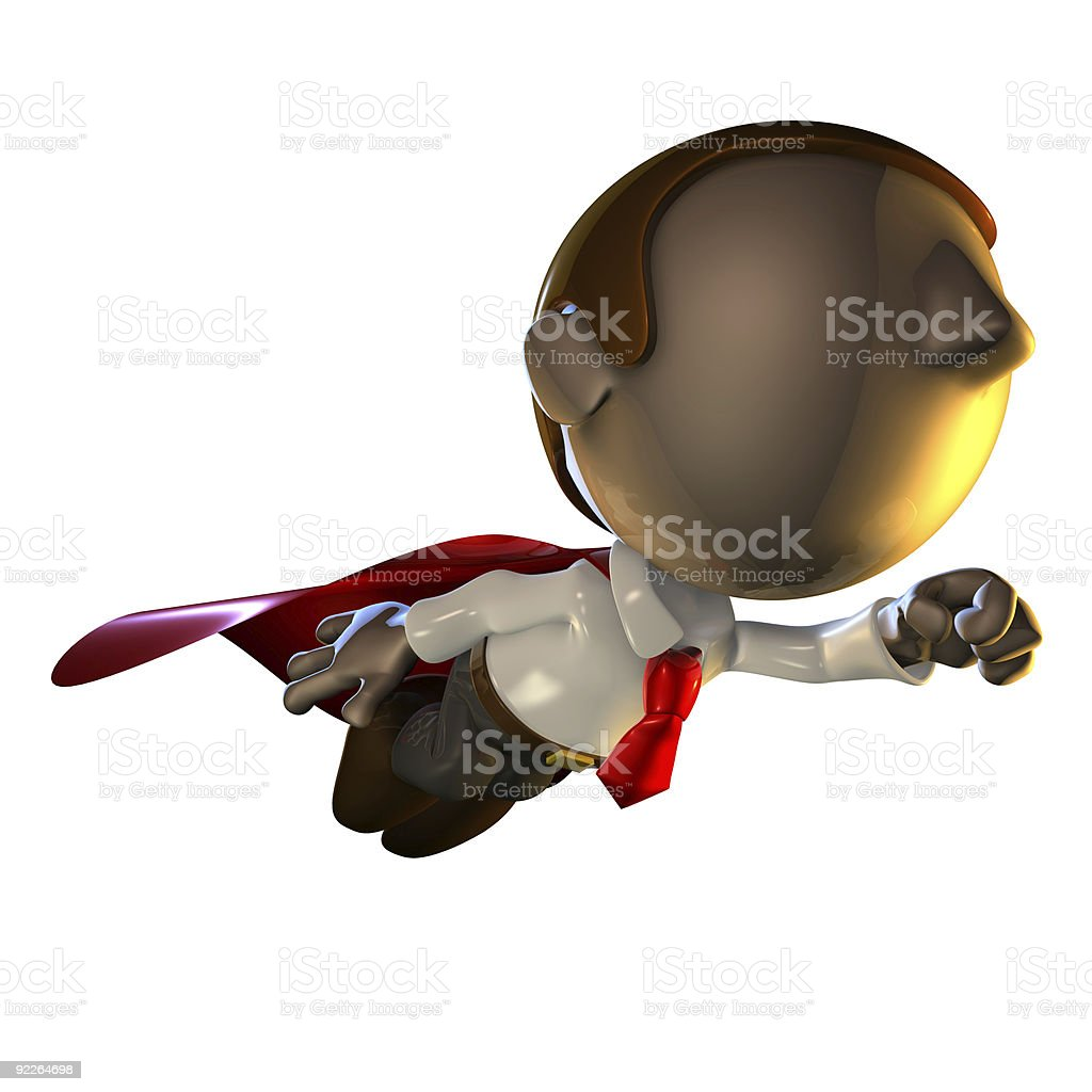 3d business man character flying stock photo
