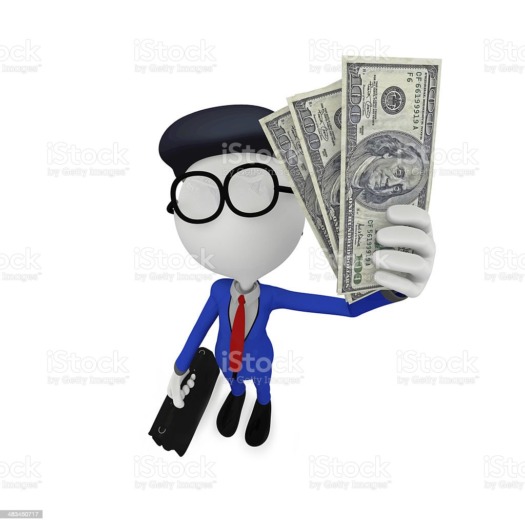 3d businessman royalty-free stock photo