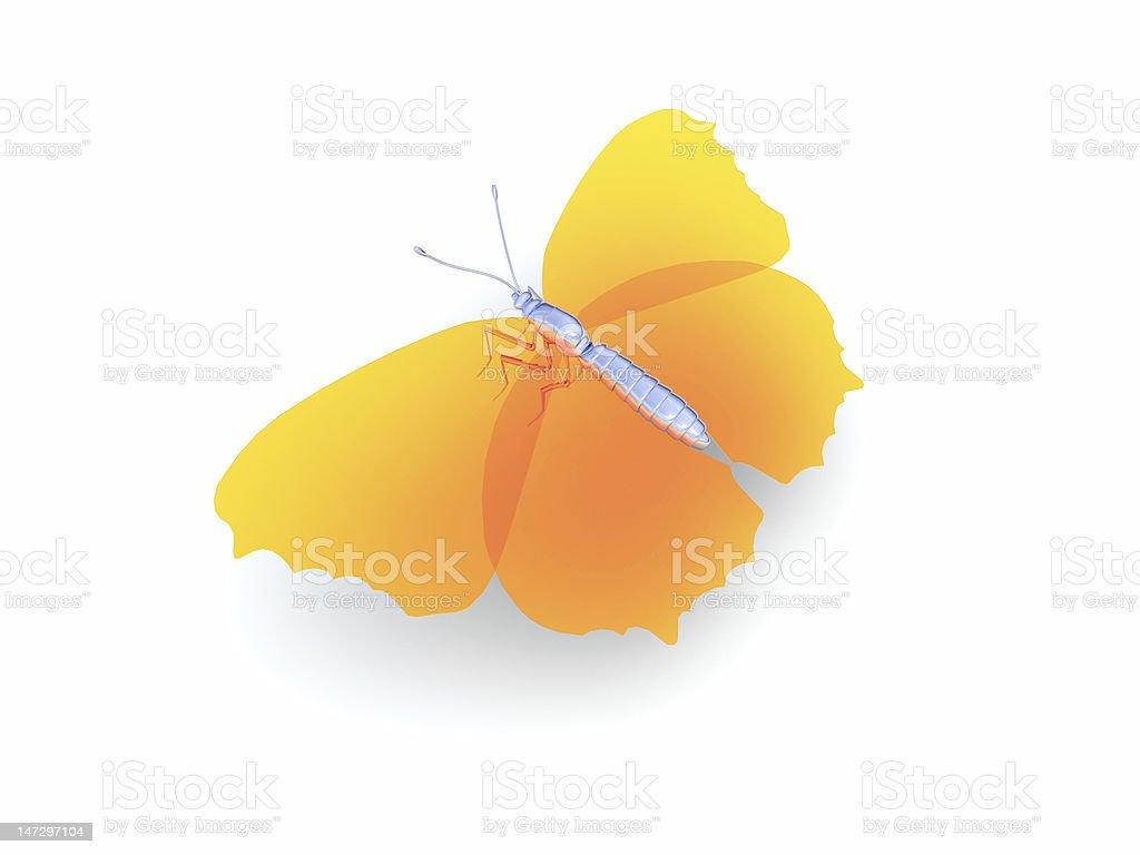 3 d mariposa foto de stock libre de derechos