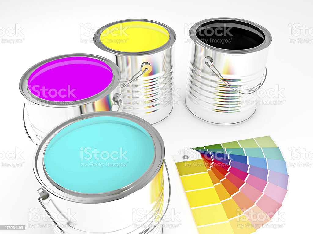3d can paint royalty-free stock photo