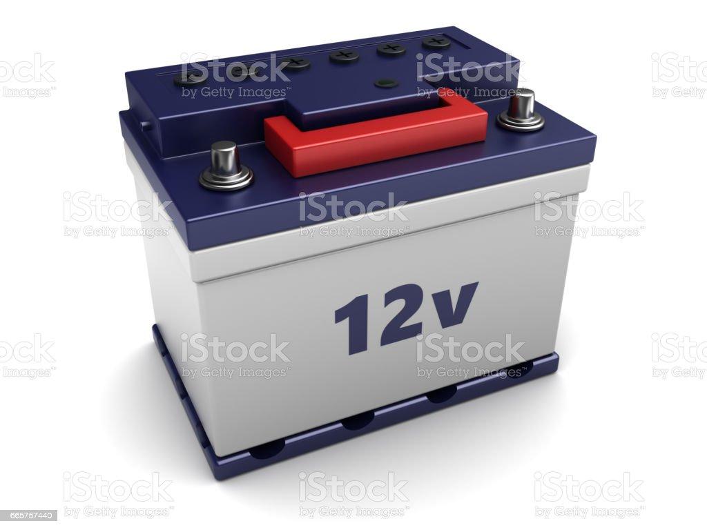 3d car battery stock photo