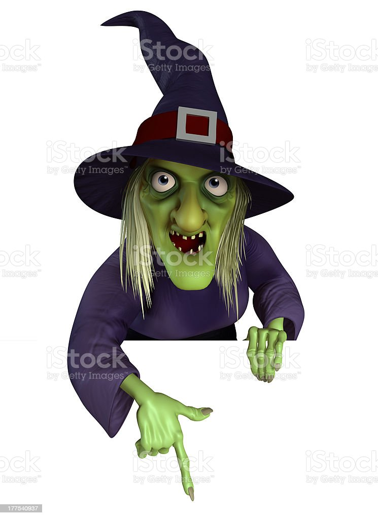 3d cartppn Halloween witch stock photo