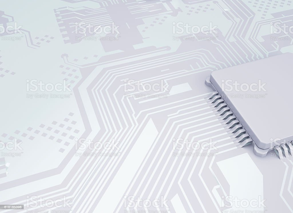 3d Central Computer Proccesors CPU. stock photo