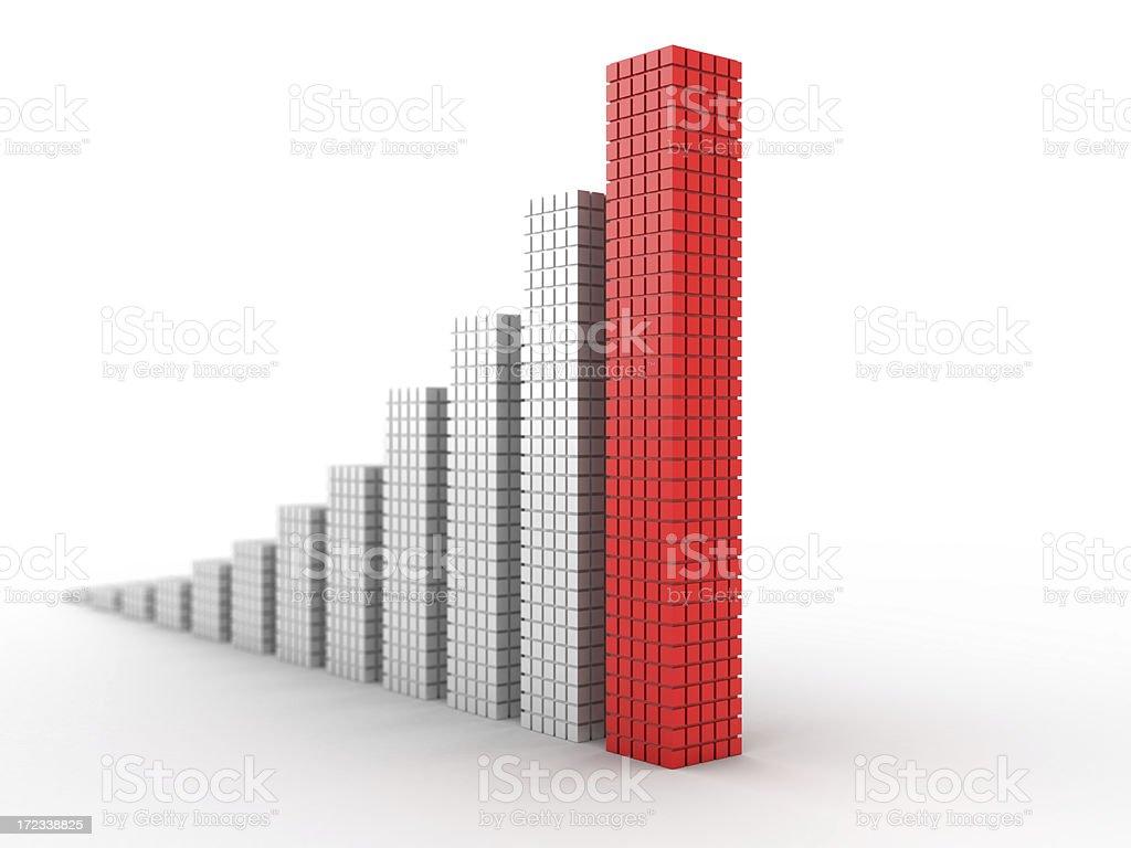 3d chart royalty-free stock photo