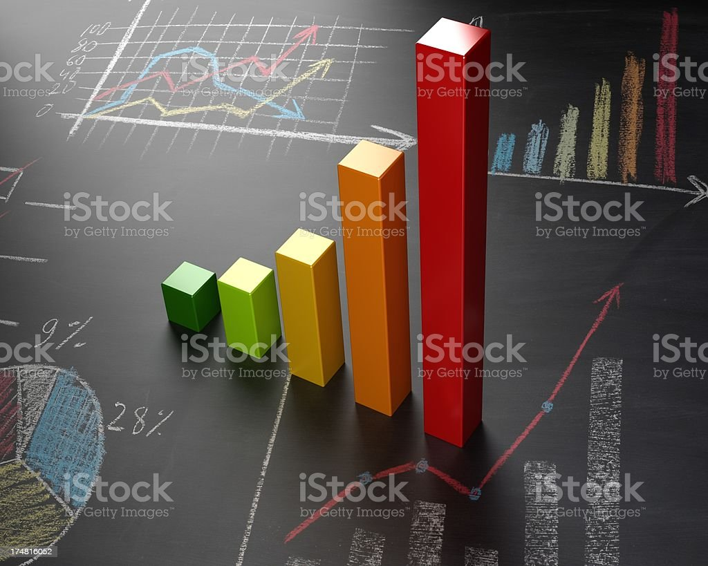3d chart royalty-free stock photo