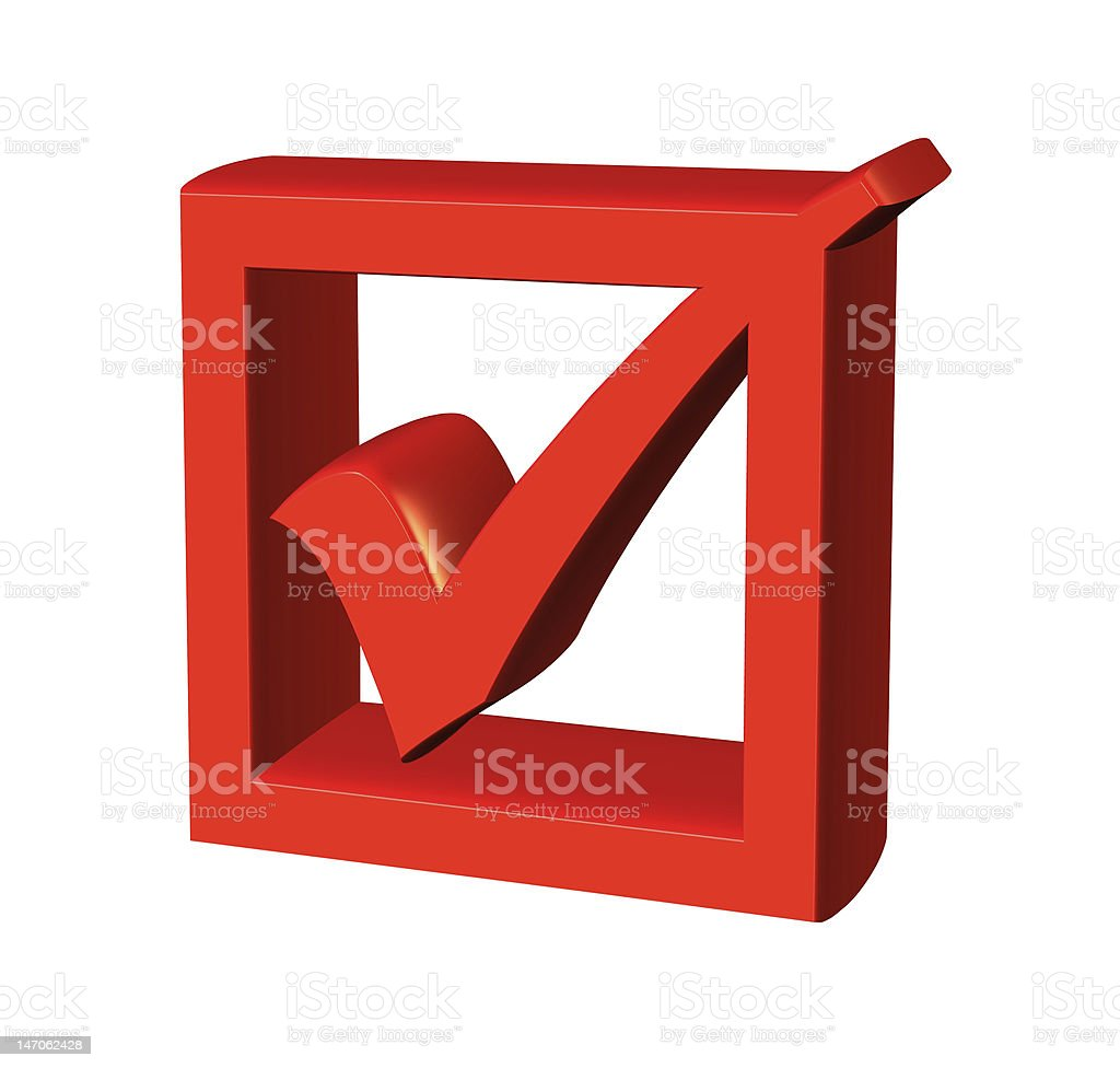 3d checkbox royalty-free stock photo