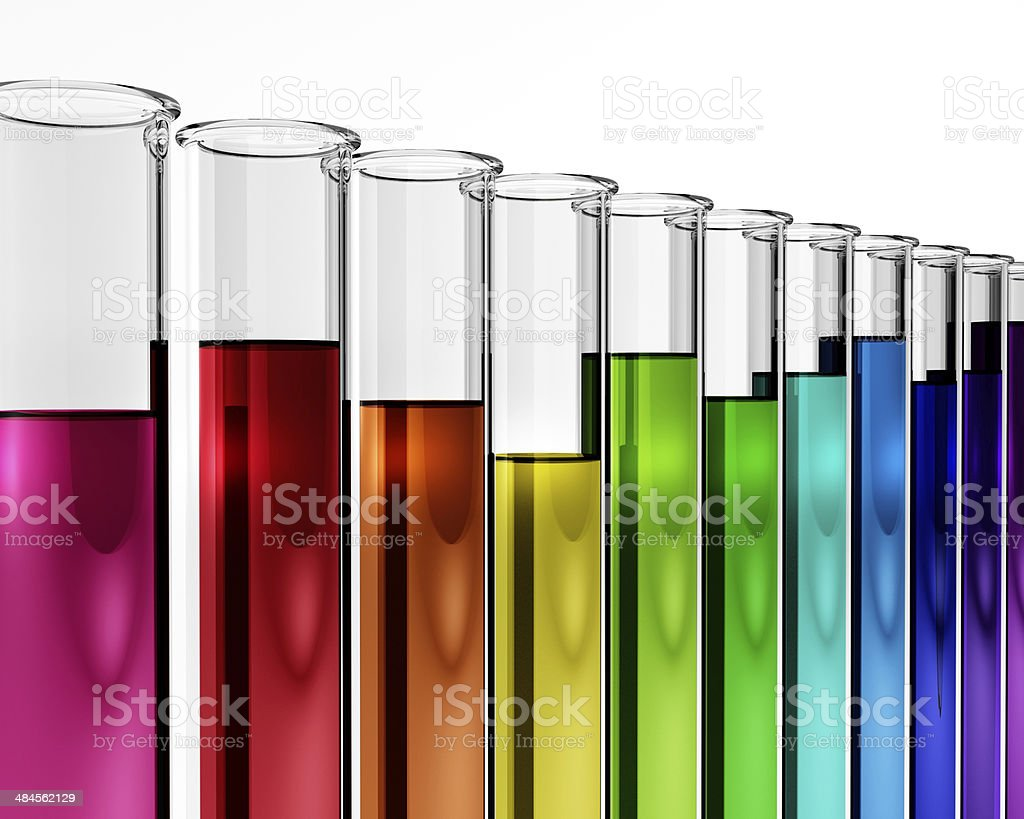 3d - chemistry research test tube chemical stock photo
