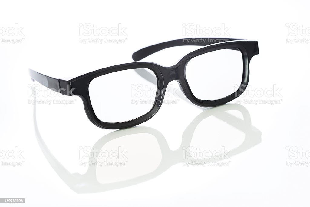 3-d cinema glasses on white royalty-free stock photo