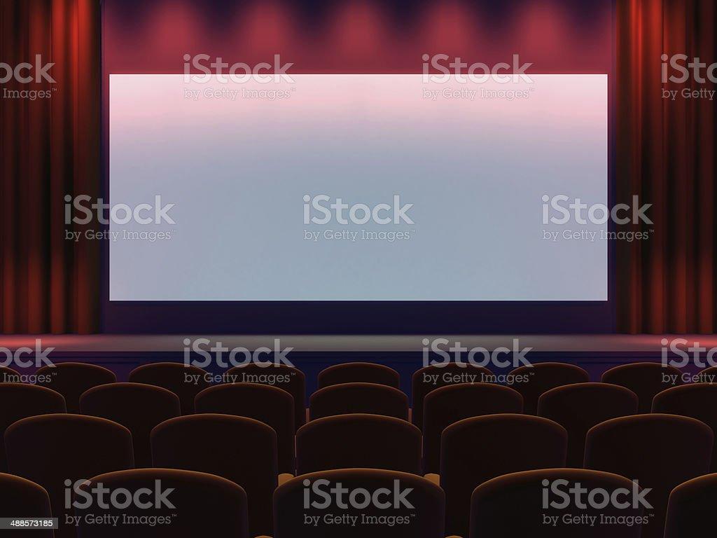 3d Cinema screen stock photo