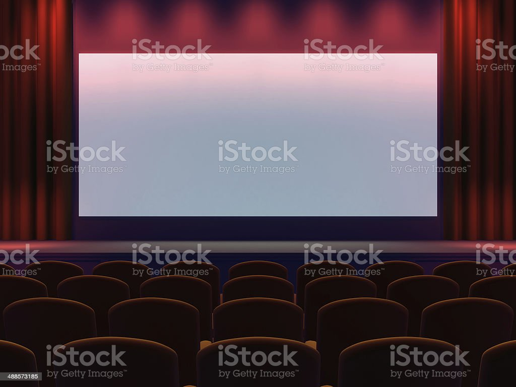 3d Cinema screen stock photo