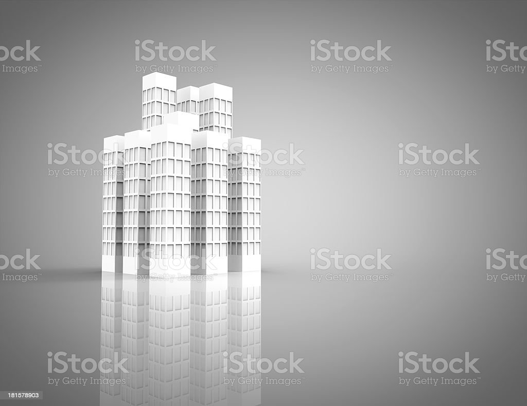 3d city royalty-free stock photo