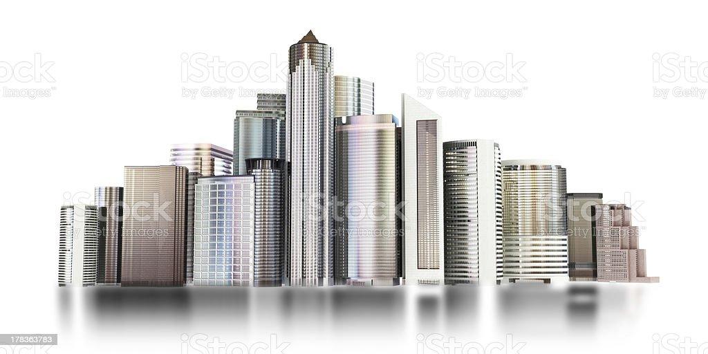 3d city skyline stock photo