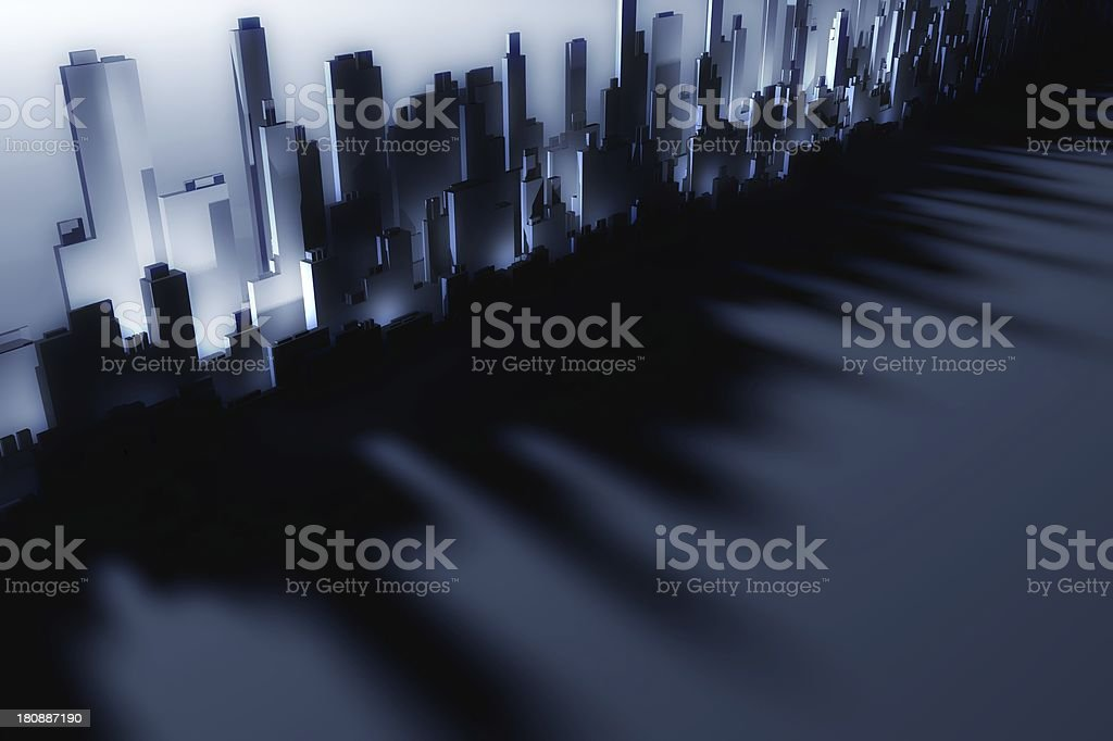 3d city skyscrapers royalty-free stock photo
