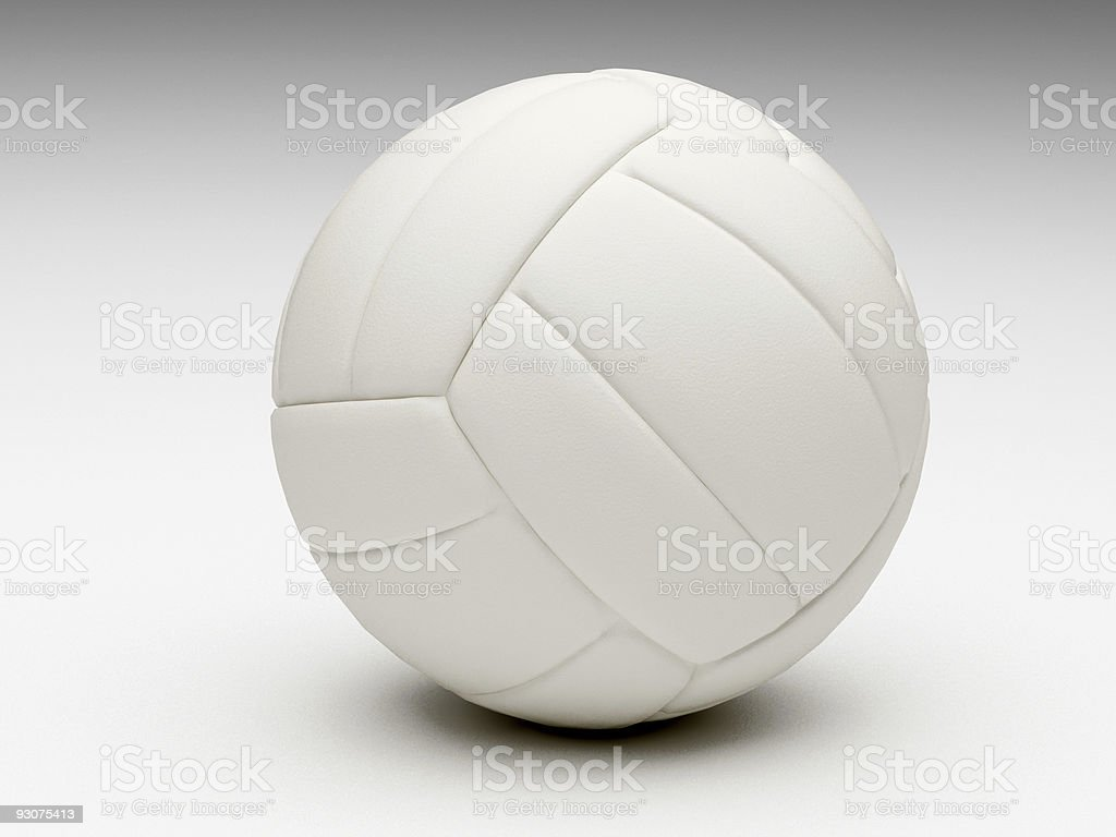 3d classic volley ball royalty-free stock photo
