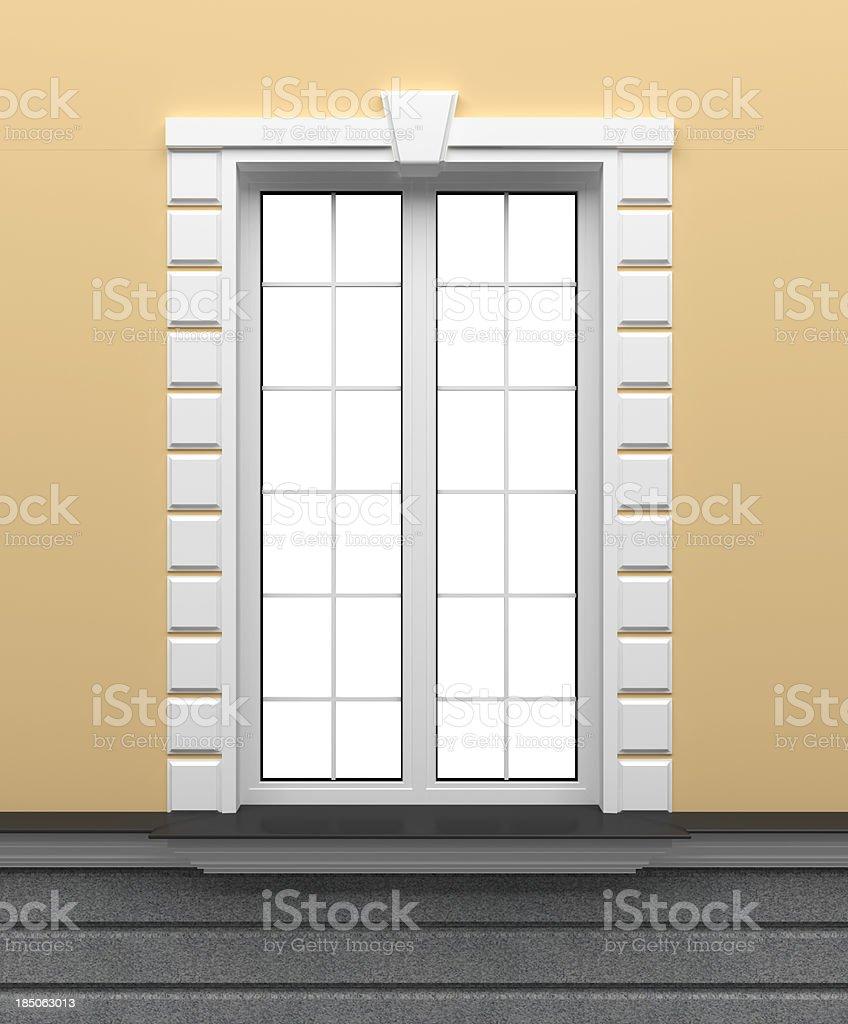 3d classic window template stock photo