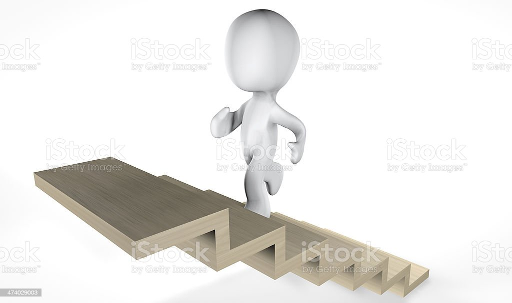 3d climbing stairs stock photo