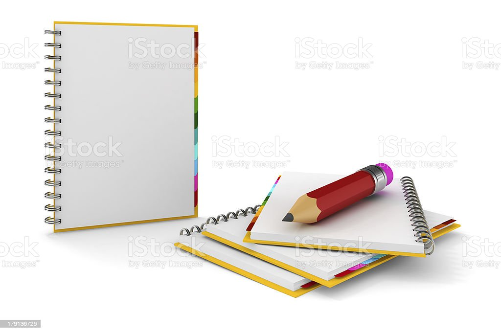 3d clipboard with blank pages on white background royalty-free stock photo