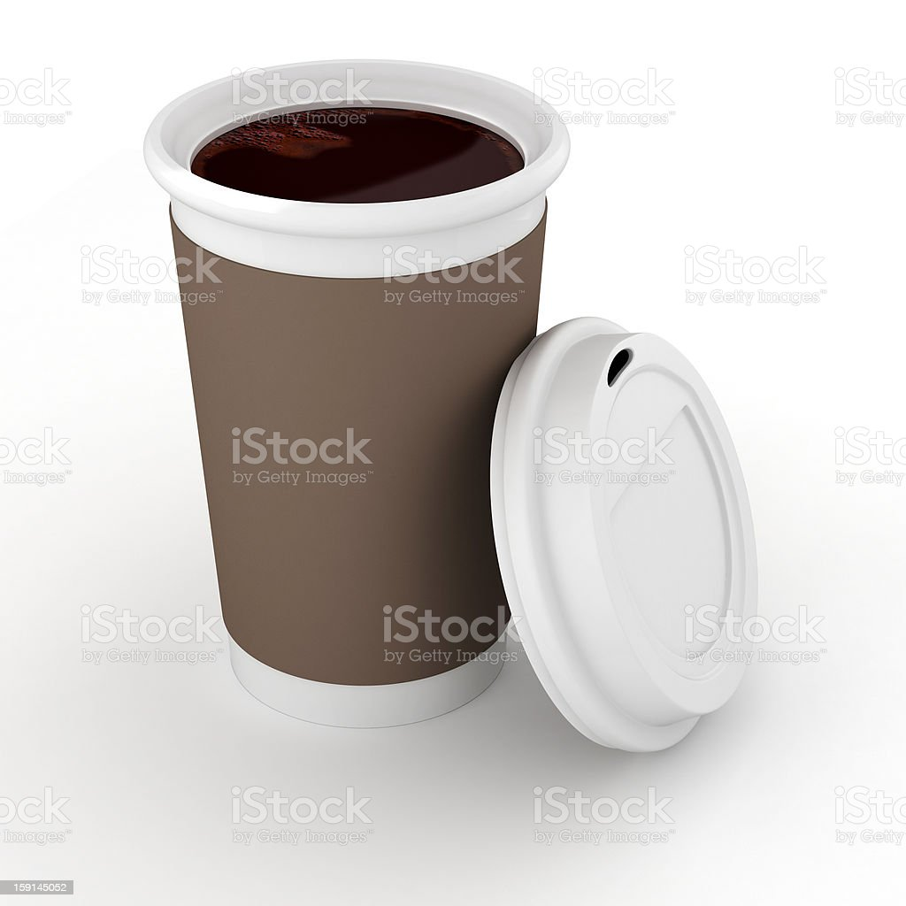 3d coffee paper cup on white background royalty-free stock vector art