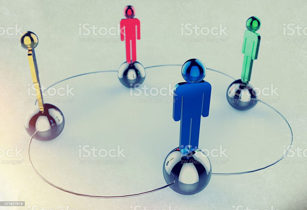 3d colors stainless human social network royalty-free stock photo