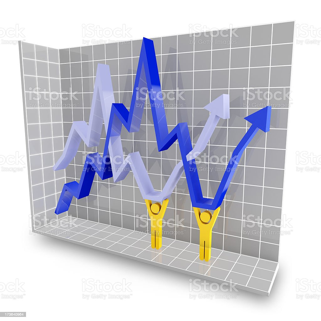 3d concept for saving the economy stock photo
