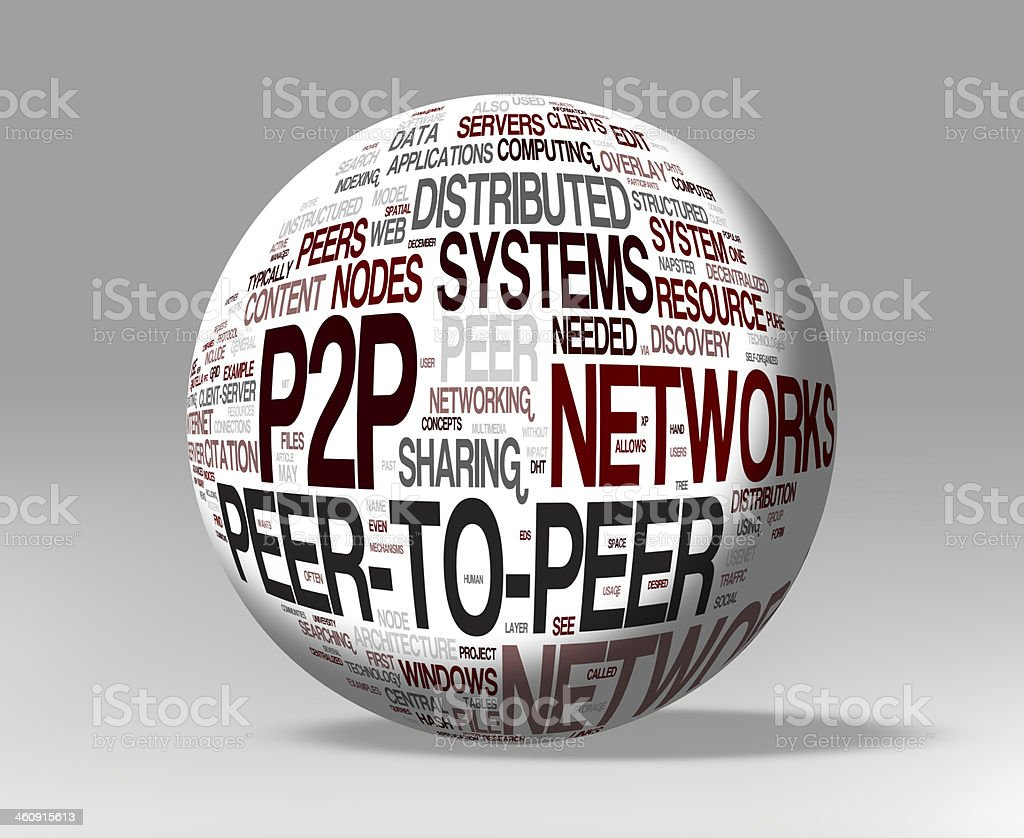 P2P  3d concepts stock photo